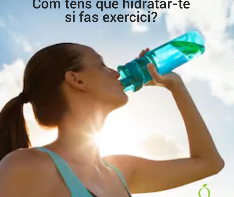 ¿Cómo hidratarte correctamente durante la práctica del ejercicio físico?